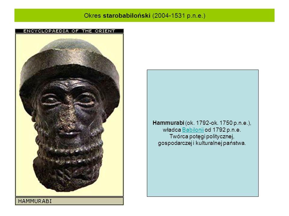Okres starobabiloński (2004-1531 p.n.e.)