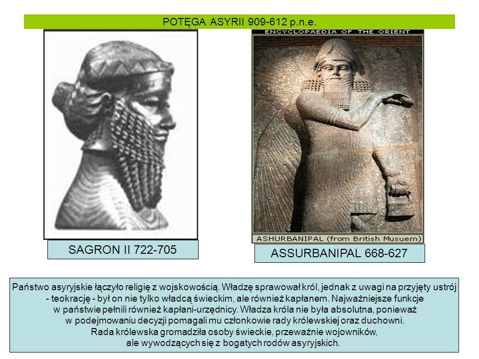 SAGRON II 722-705 ASSURBANIPAL 668-627 POTĘGA ASYRII 909-612 p.n.e.