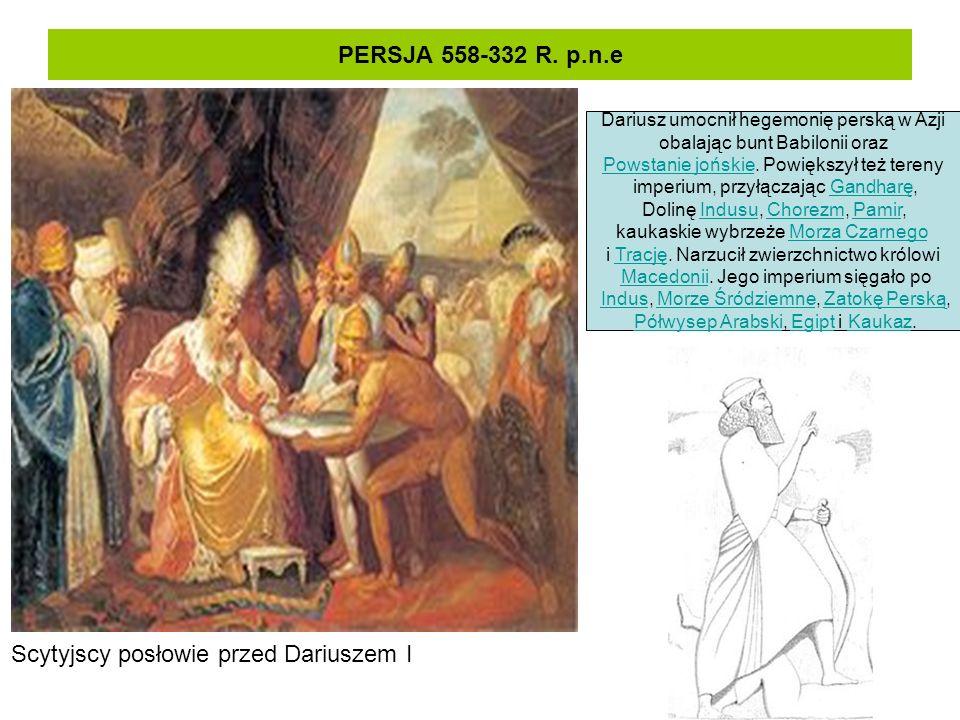 Scytyjscy posłowie przed Dariuszem I