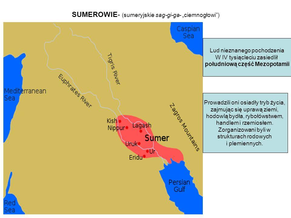 "SUMEROWIE- (sumeryjskie sag-gi-ga- ""ciemnogłowi )"