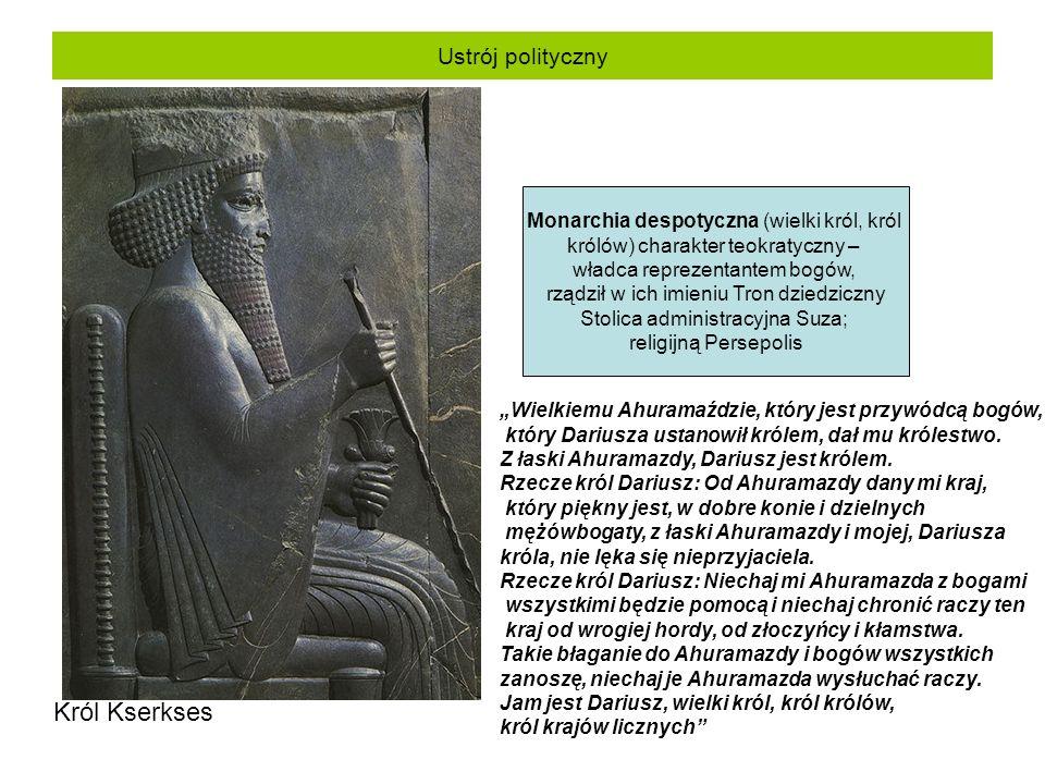Król Kserkses Ustrój polityczny