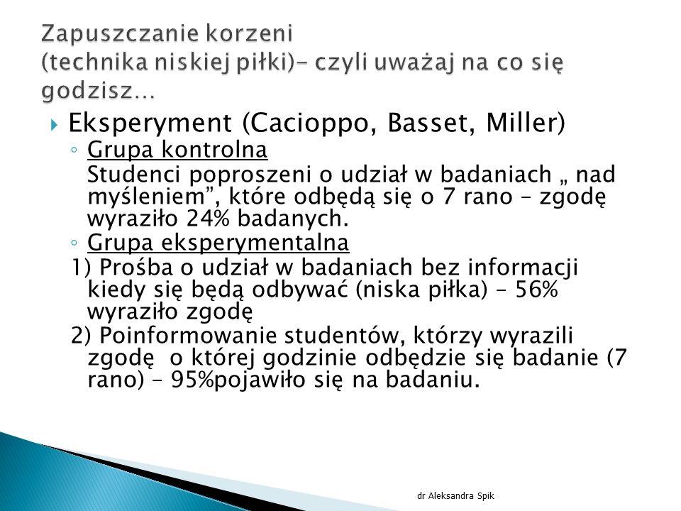Eksperyment (Cacioppo, Basset, Miller)