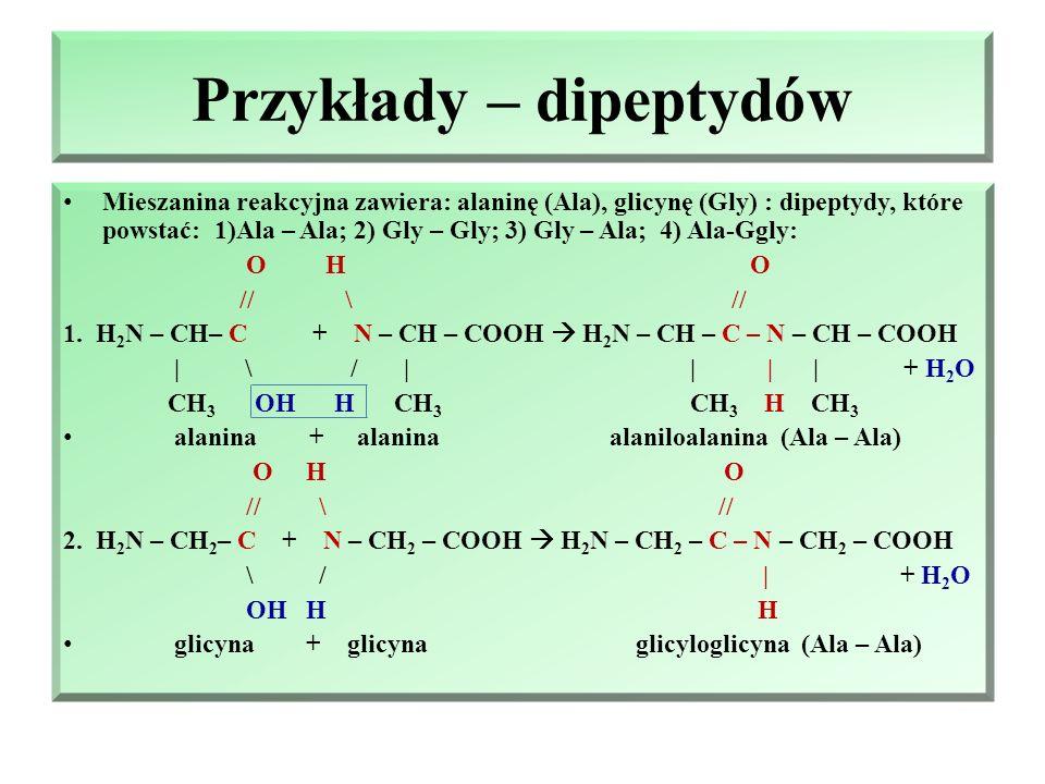 Przykłady – dipeptydów