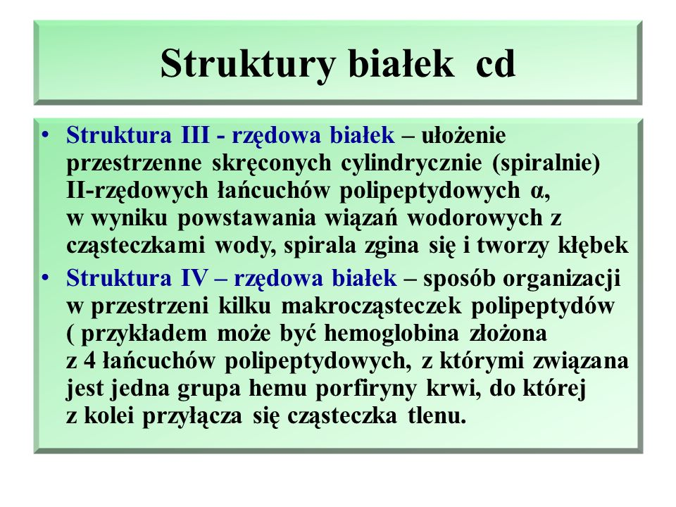 Struktury białek cd