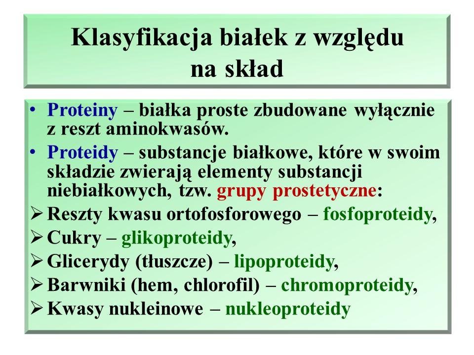 Klasyfikacja białek z względu na skład