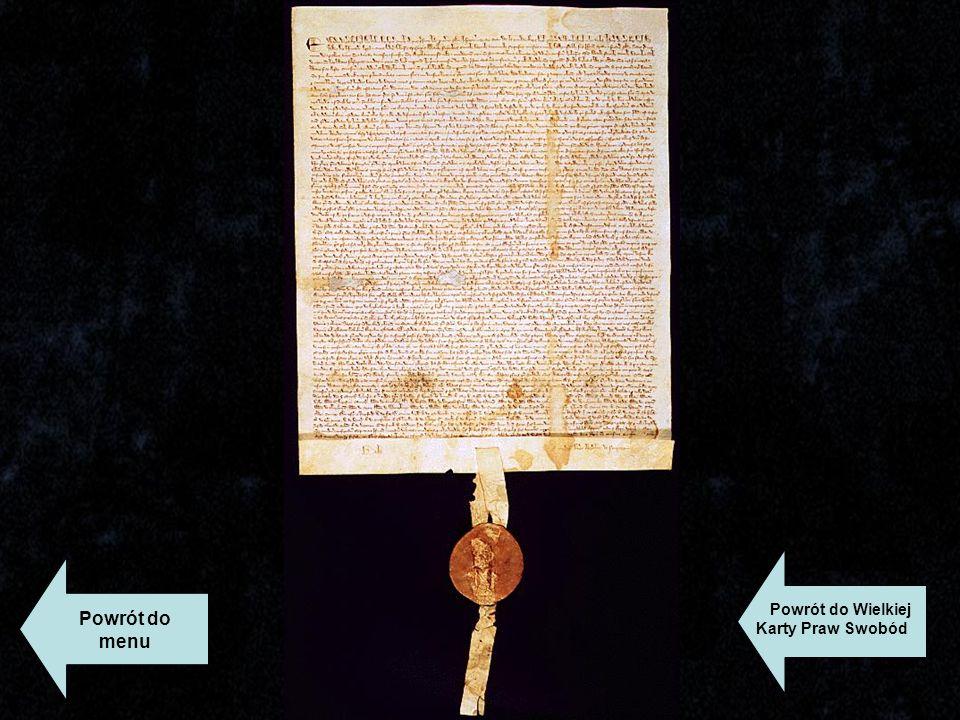Powrót do Wielkiej Karty Praw Swobód