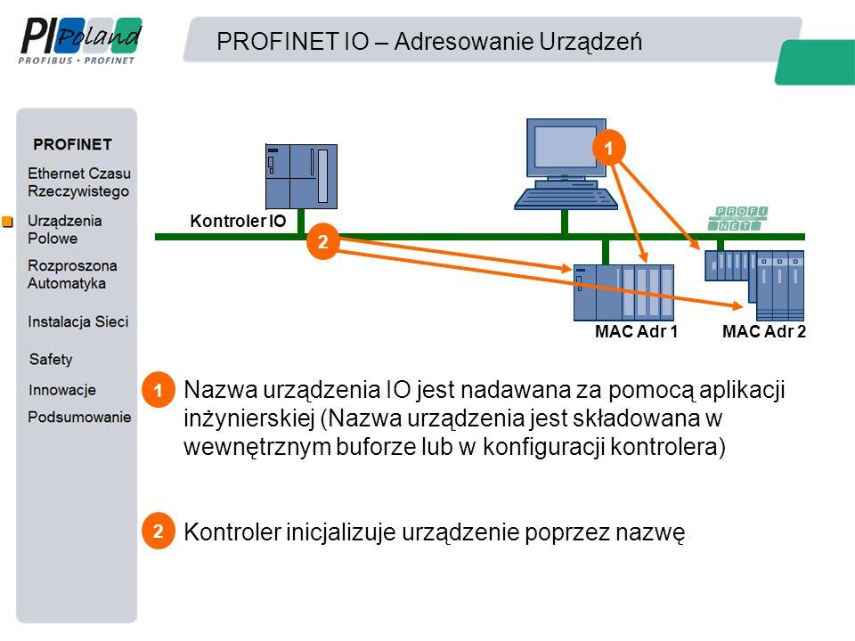 PROFINET IO – Adresowanie Urządzeń