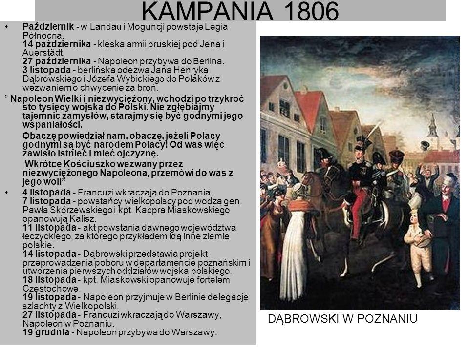 KAMPANIA 1806 DĄBROWSKI W POZNANIU