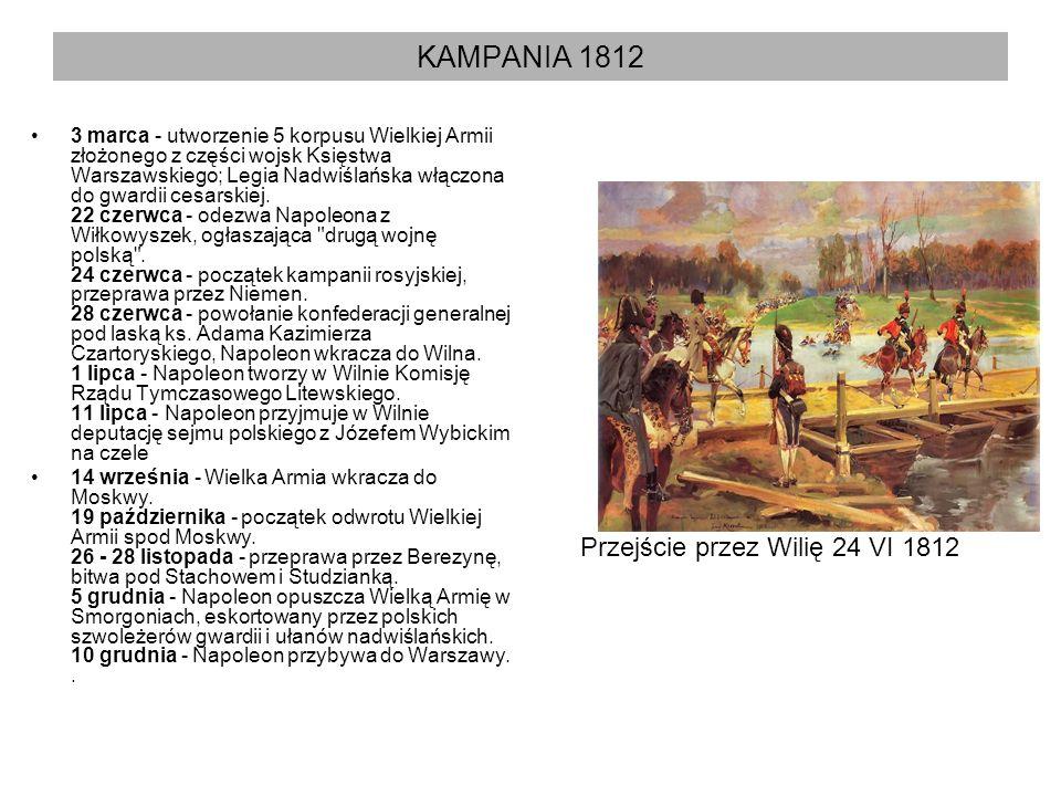 KAMPANIA 1812 Przejście przez Wilię 24 VI 1812