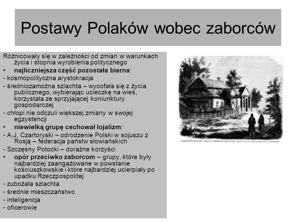 Postawy Polaków wobec zaborców