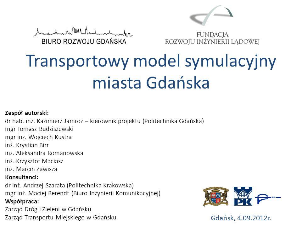 Transportowy model symulacyjny miasta Gdańska