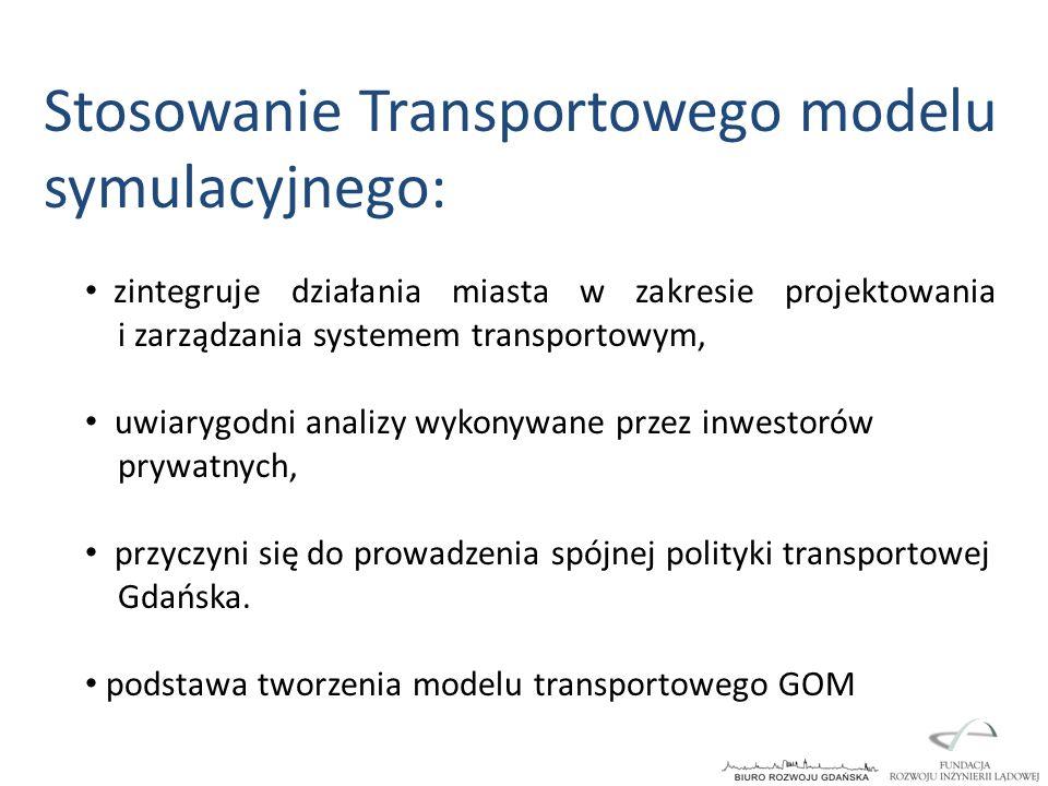 Stosowanie Transportowego modelu symulacyjnego: