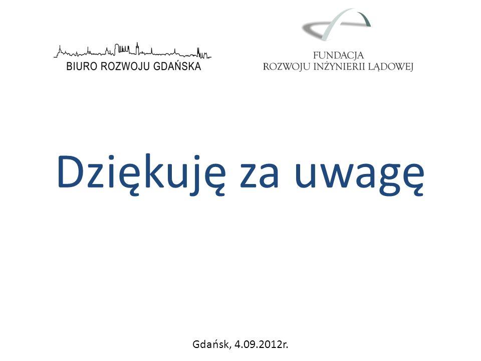 Dziękuję za uwagę Gdańsk, 4.09.2012r.