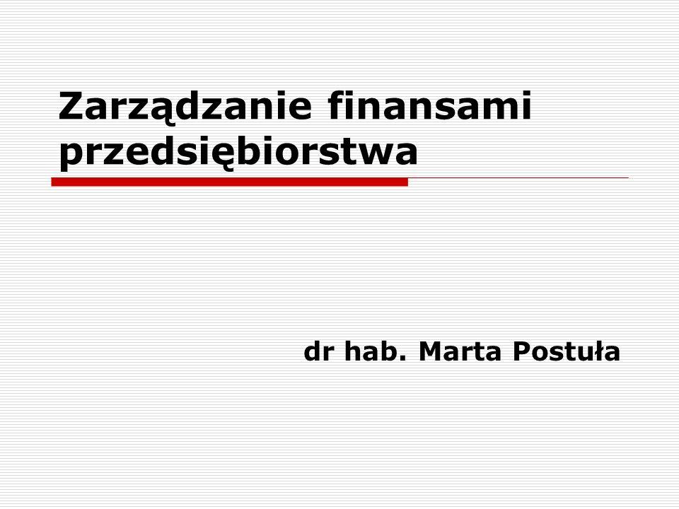 Zarządzanie finansami przedsiębiorstwa