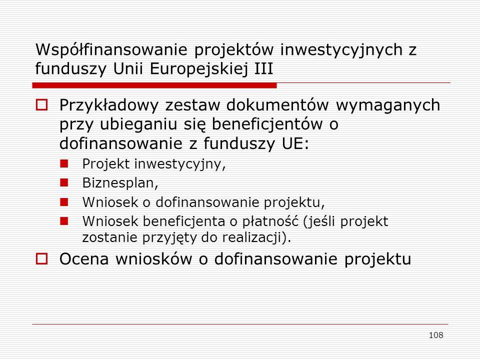 Ocena wniosków o dofinansowanie projektu