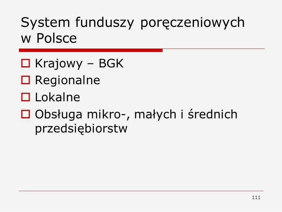 System funduszy poręczeniowych w Polsce