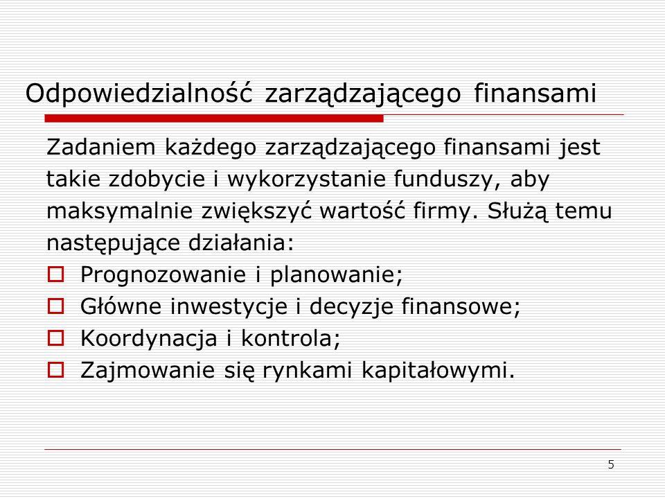Odpowiedzialność zarządzającego finansami