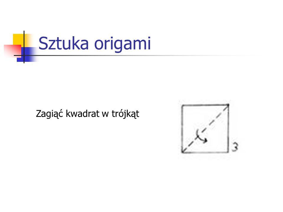 Sztuka origami Zagiąć kwadrat w trójkąt