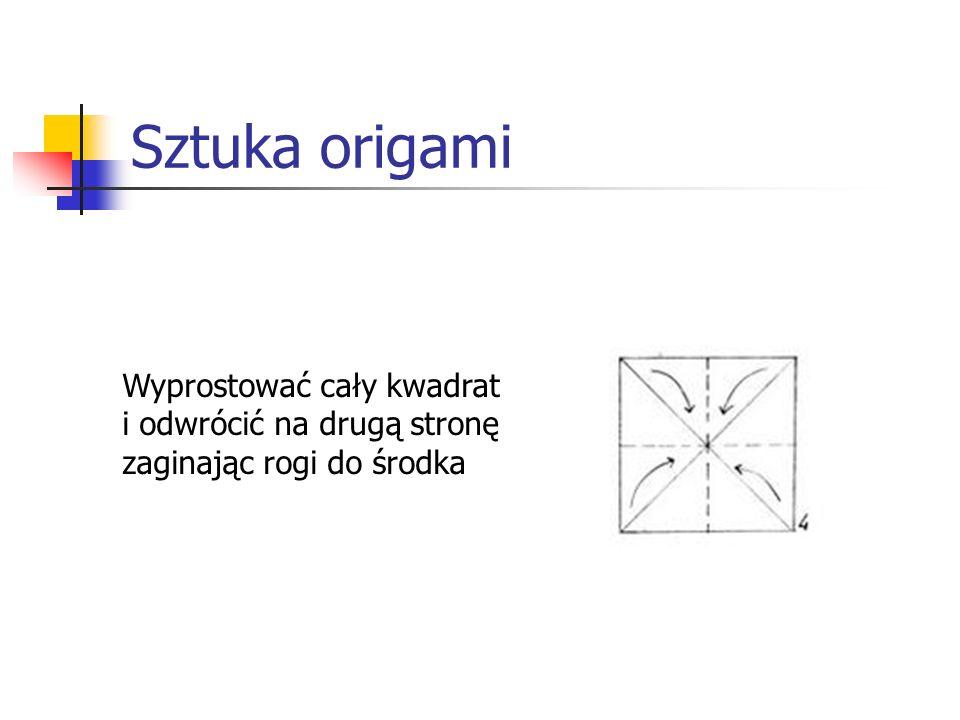Sztuka origami Wyprostować cały kwadrat i odwrócić na drugą stronę