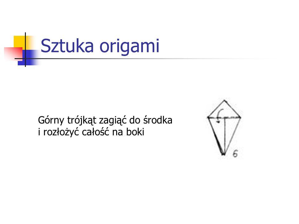 Sztuka origami Górny trójkąt zagiąć do środka