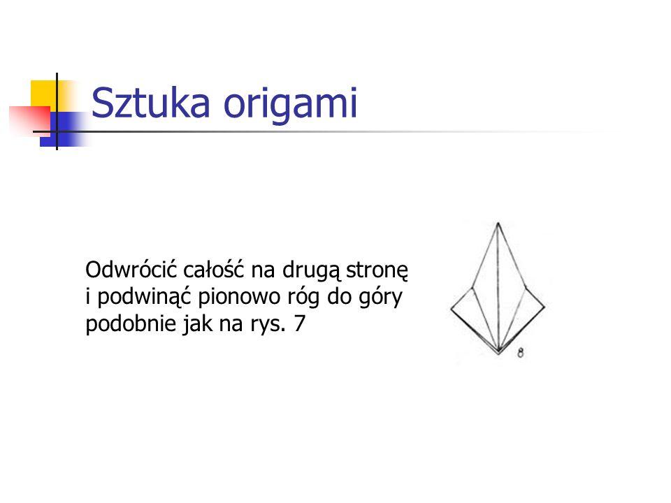 Sztuka origami Odwrócić całość na drugą stronę