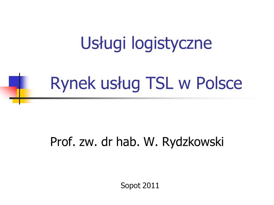 Usługi logistyczne Rynek usług TSL w Polsce