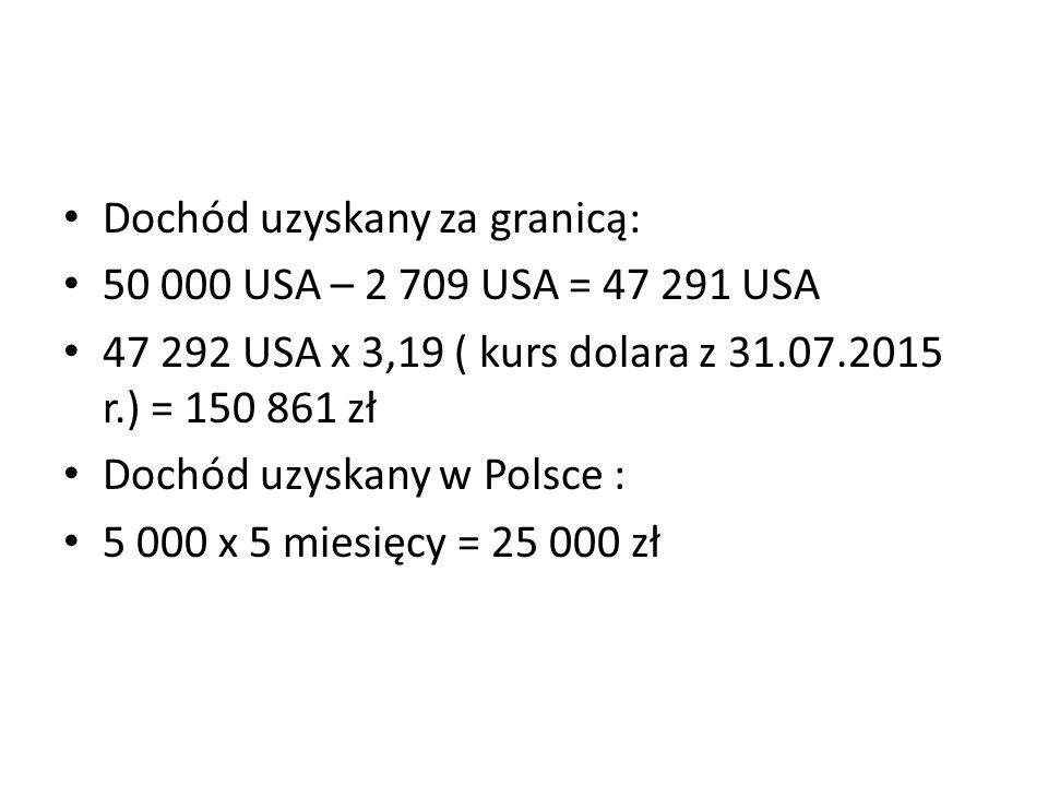 Dochód uzyskany za granicą: