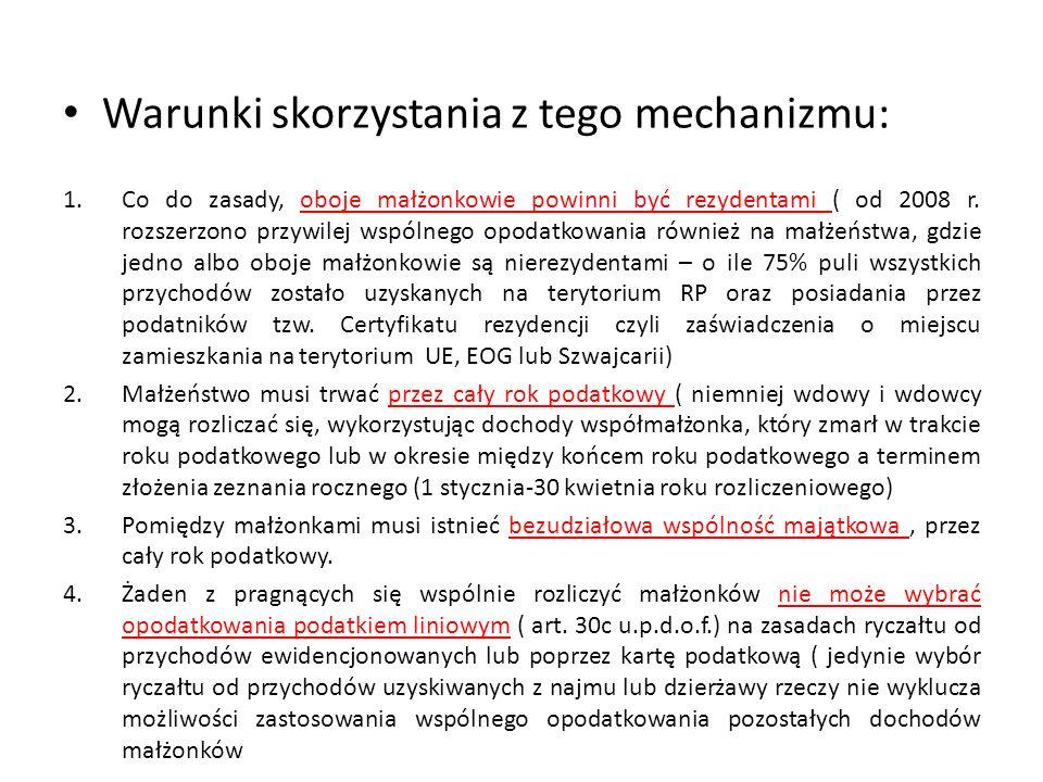 Warunki skorzystania z tego mechanizmu: