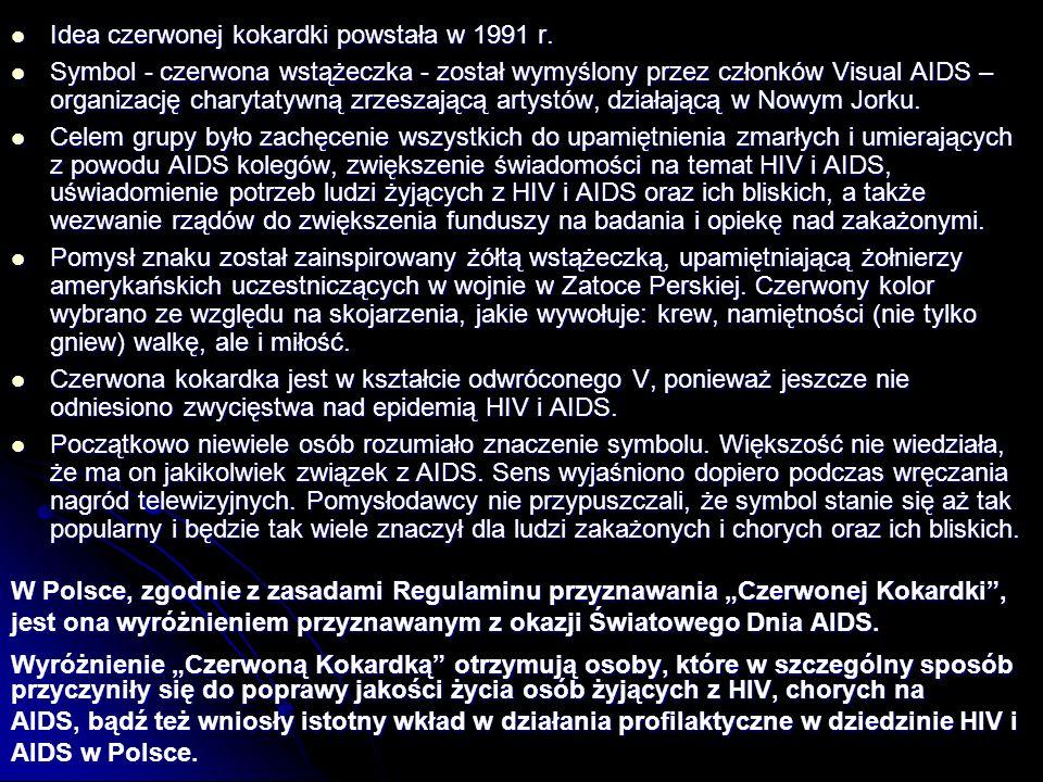 Idea czerwonej kokardki powstała w 1991 r.