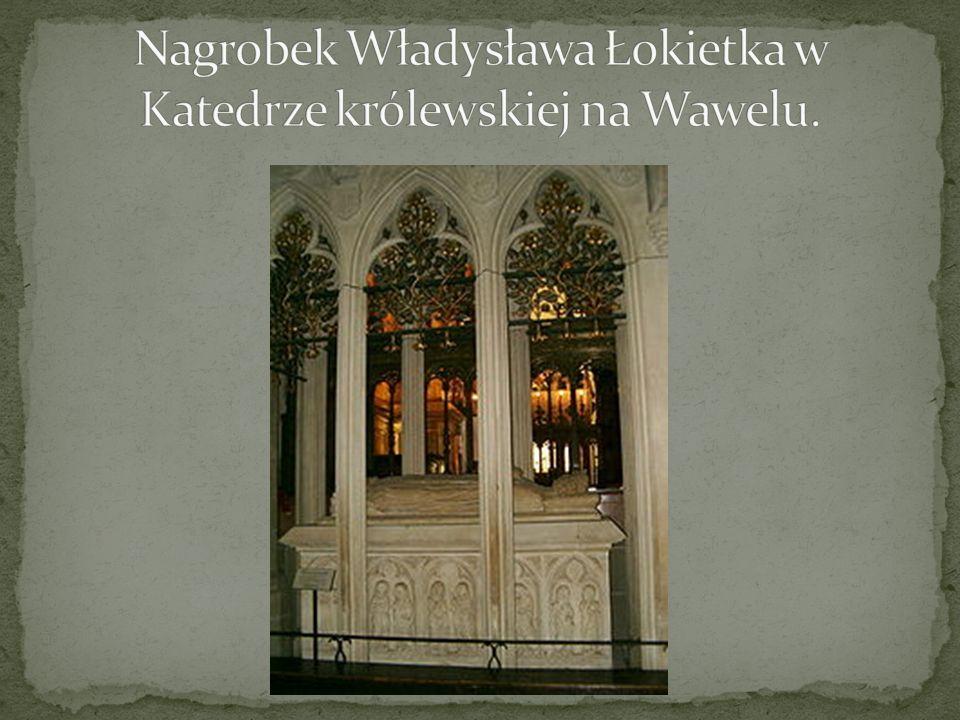 Nagrobek Władysława Łokietka w Katedrze królewskiej na Wawelu.