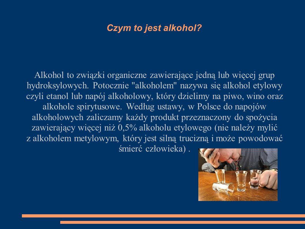 Czym to jest alkohol