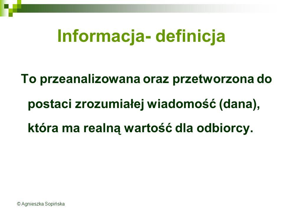 Informacja- definicja