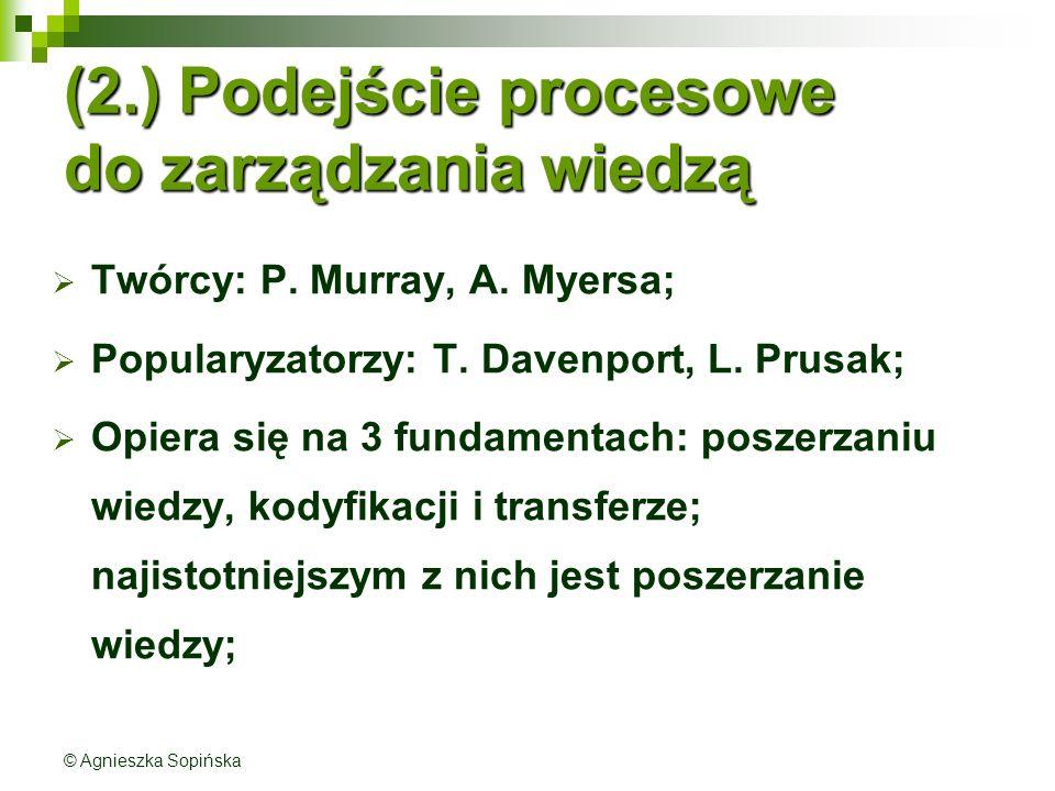 (2.) Podejście procesowe do zarządzania wiedzą