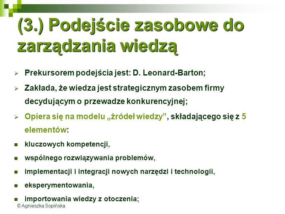 (3.) Podejście zasobowe do zarządzania wiedzą