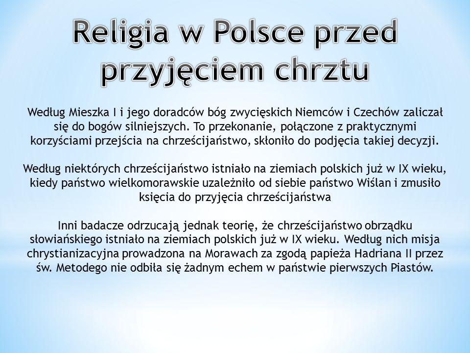 Religia w Polsce przed przyjęciem chrztu