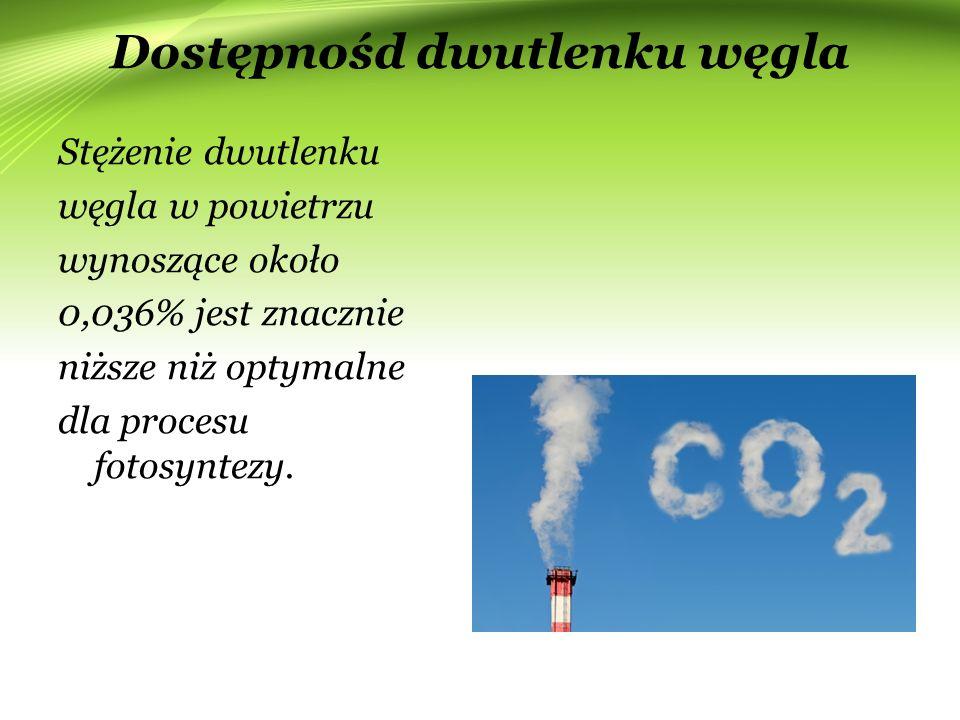 Dostępnośd dwutlenku węgla