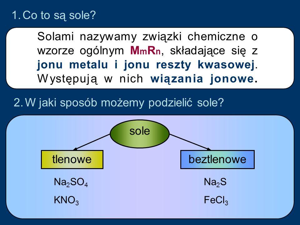 W jaki sposób możemy podzielić sole