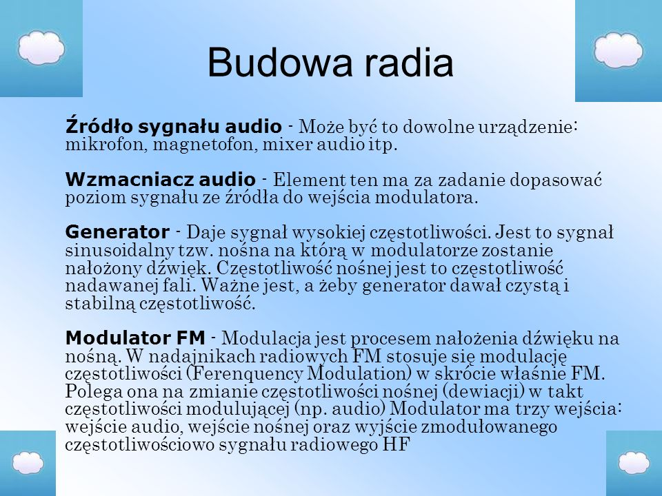 Budowa radia