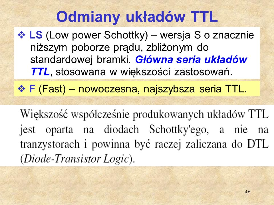 Odmiany układów TTL