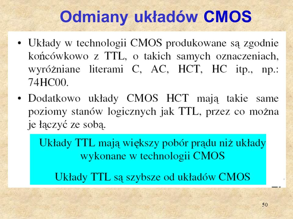 Odmiany układów CMOS