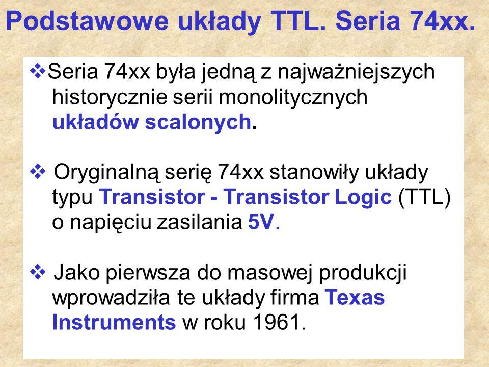 Podstawowe układy TTL. Seria 74xx.