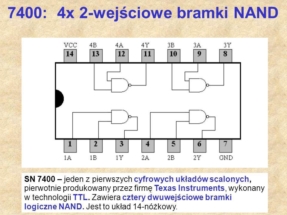 7400: 4x 2-wejściowe bramki NAND