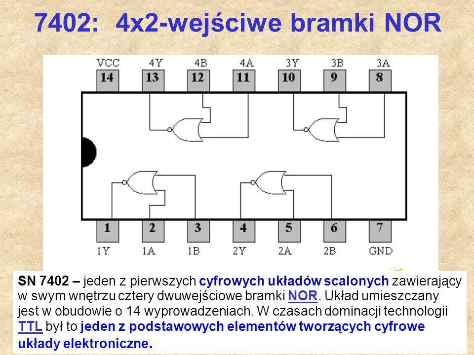 7402: 4x2-wejściwe bramki NOR