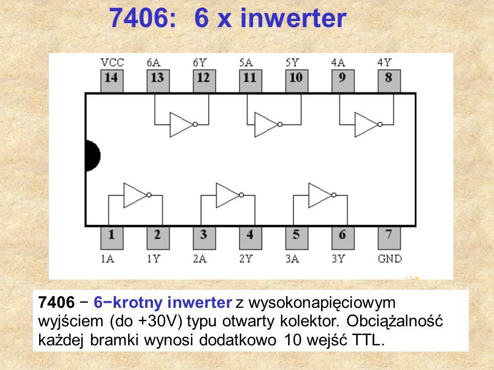 7406: 6 x inwerter