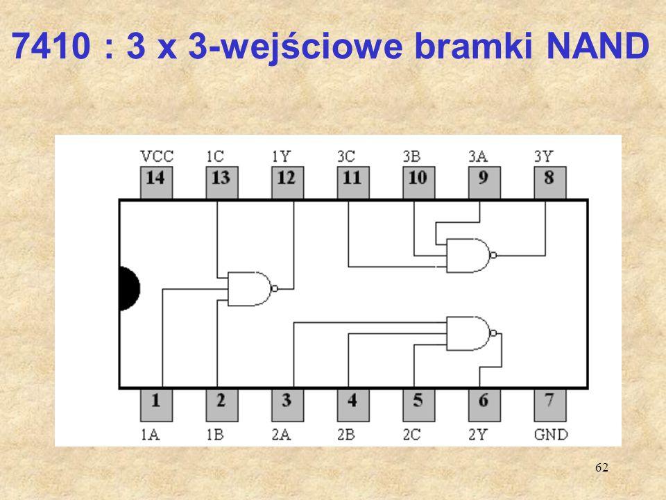 7410 : 3 x 3-wejściowe bramki NAND