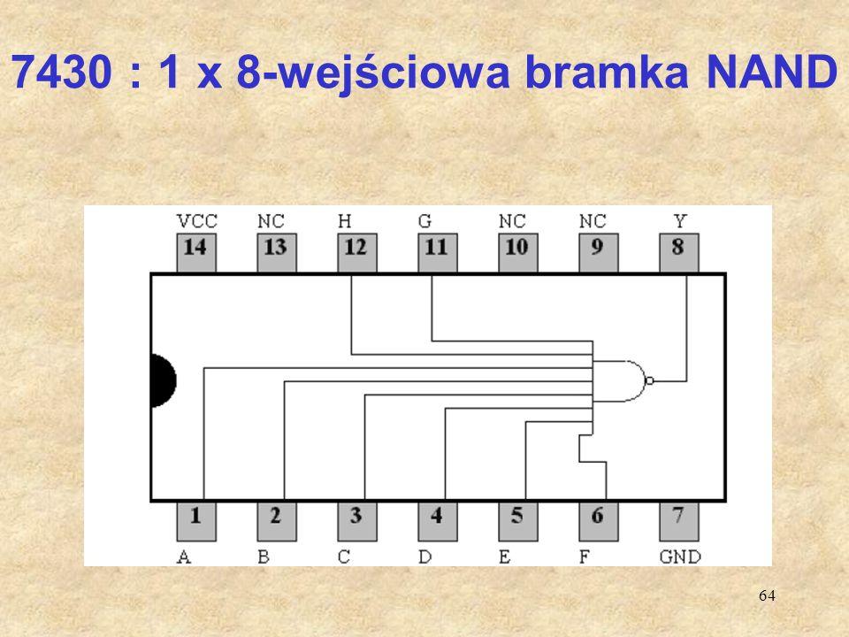 7430 : 1 x 8-wejściowa bramka NAND