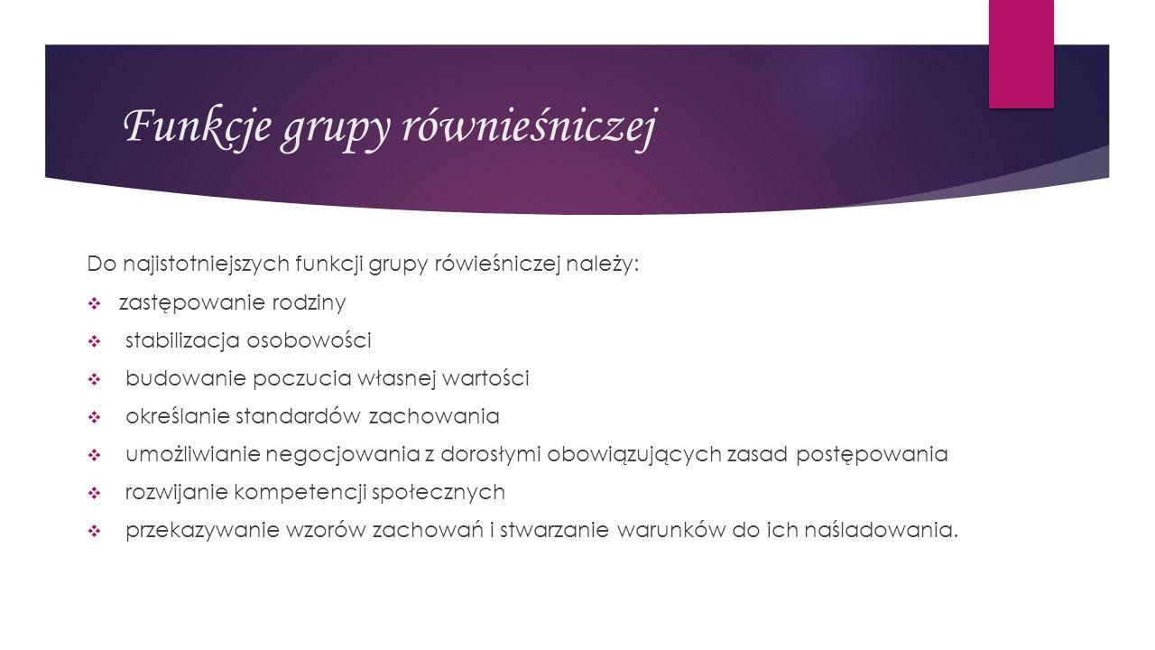 Funkcje grupy równieśniczej