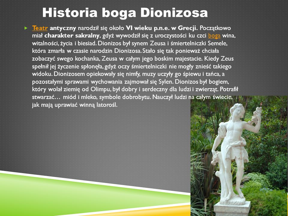 Historia boga Dionizosa