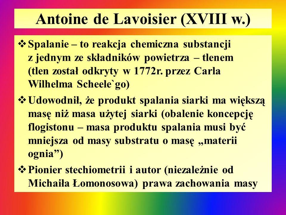 Antoine de Lavoisier (XVIII w.)