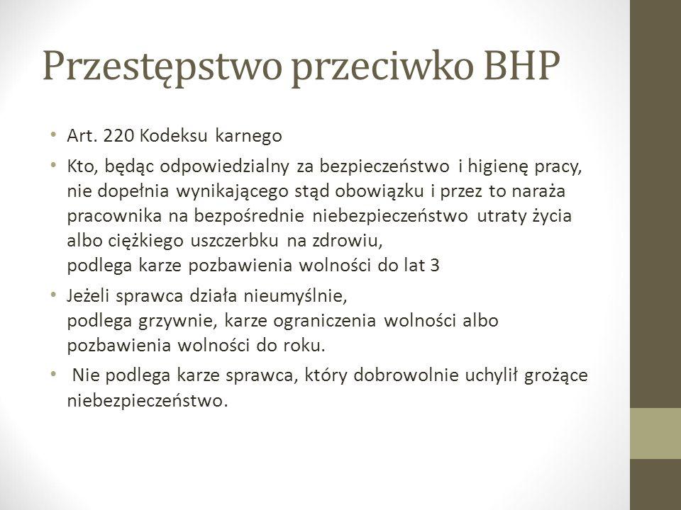Przestępstwo przeciwko BHP